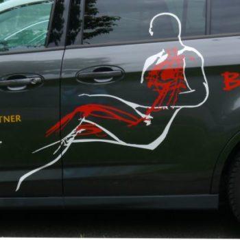 Beschriftung Transporter